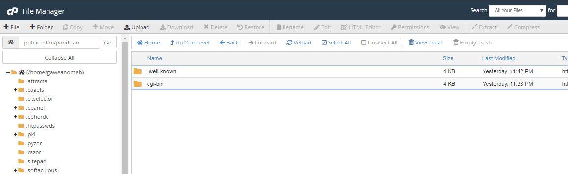 halaman file manager