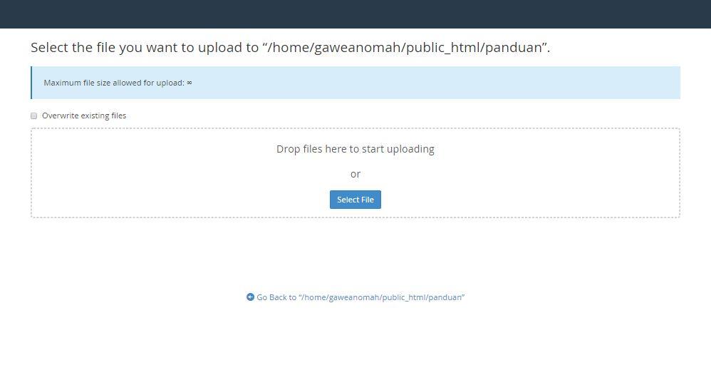 upload file dengan file manager