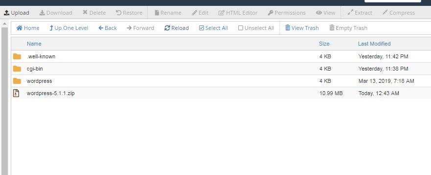 buka dan masuk folder wordpress