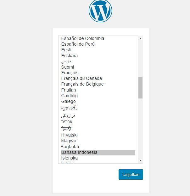 melakukan install wordpres
