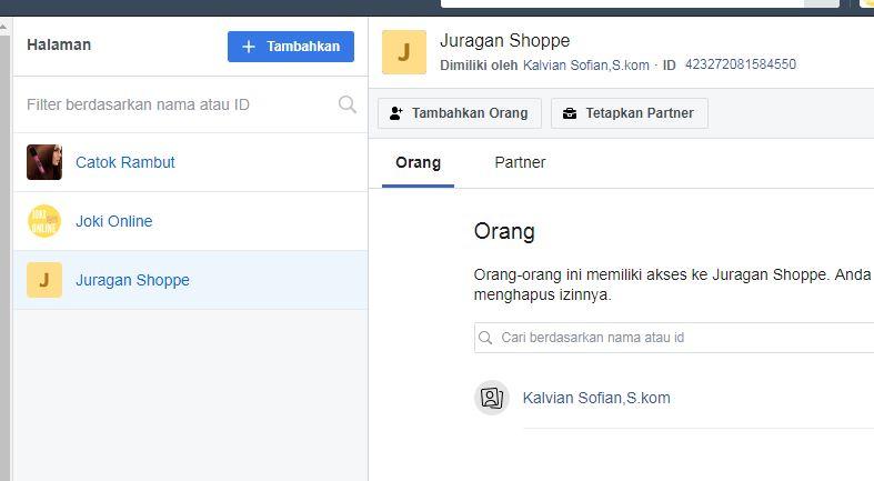 menu tambah pengguna pada akun facebook manager