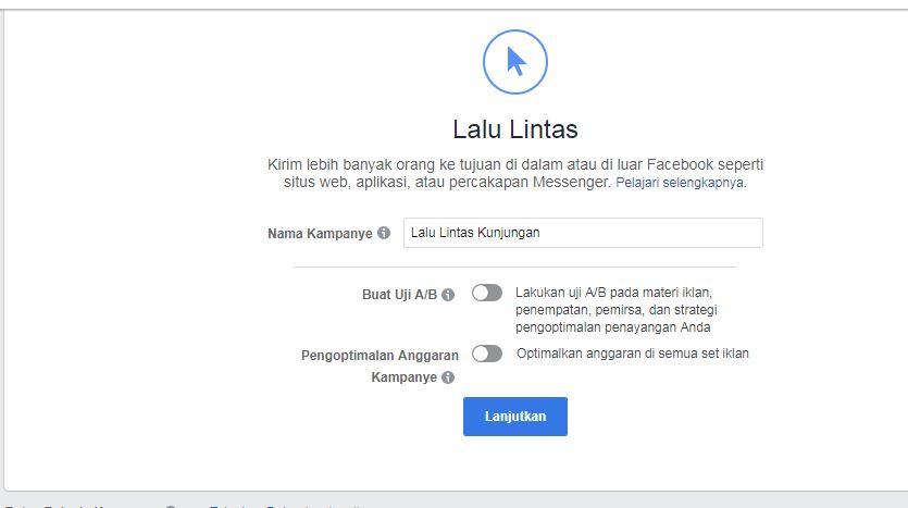 Kampanye Lalu Lintas Facebook