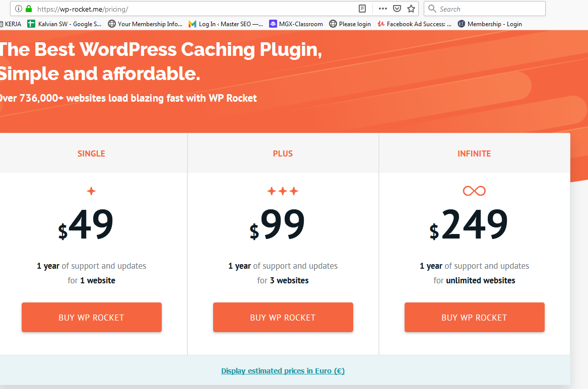 harga plugin wp rocket