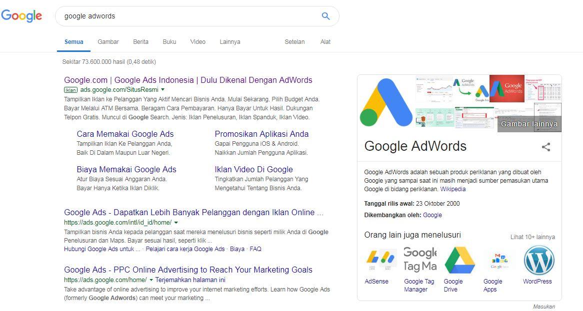 Mencari Google Adwors