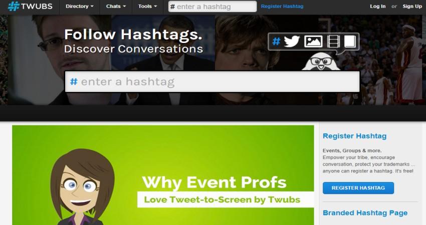 Twubs Hashtag Finder